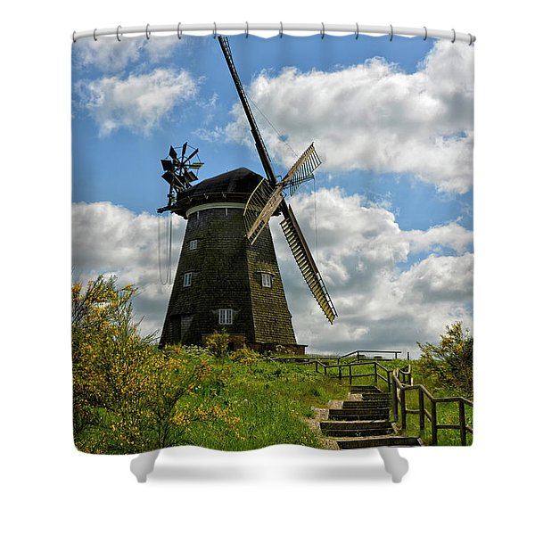 Dutch Windmill Shower Curtain
