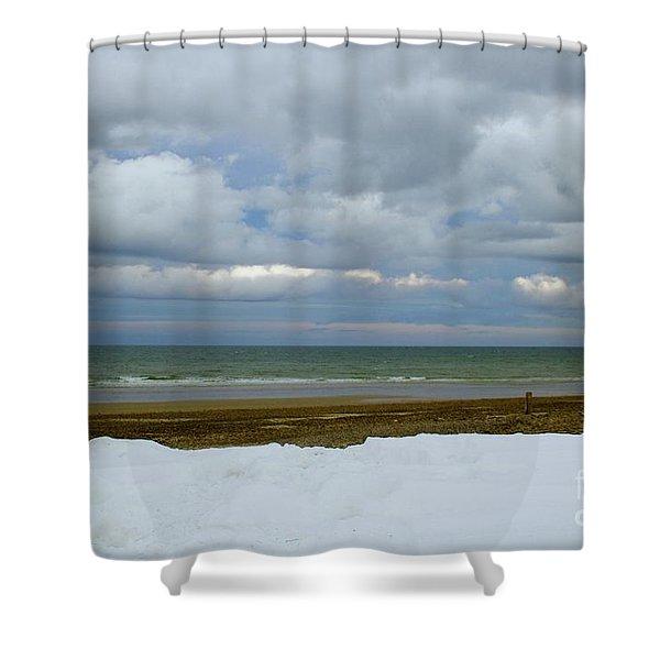 Duxbury Beach 3rd Crossover Shower Curtain