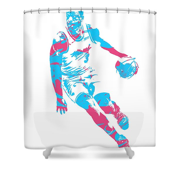 Dwyane Wade Miami Heat Pixel Art 40 Shower Curtain
