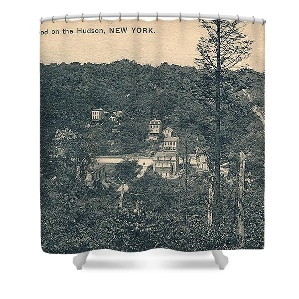 Dyckman Street At Turn Of The Century Shower Curtain