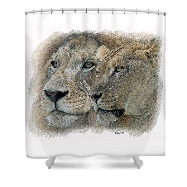 Dynamic Duo  Shower Curtain