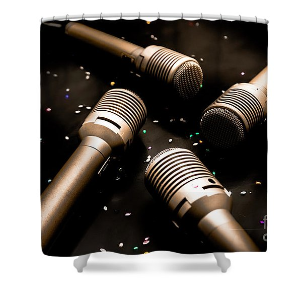Dynamic Musical Nightclub Shower Curtain