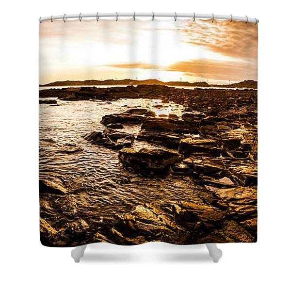Dynamic Ocean Panoramic Shower Curtain