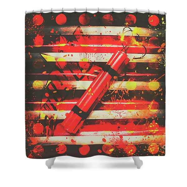 Dynamite Artwork Shower Curtain