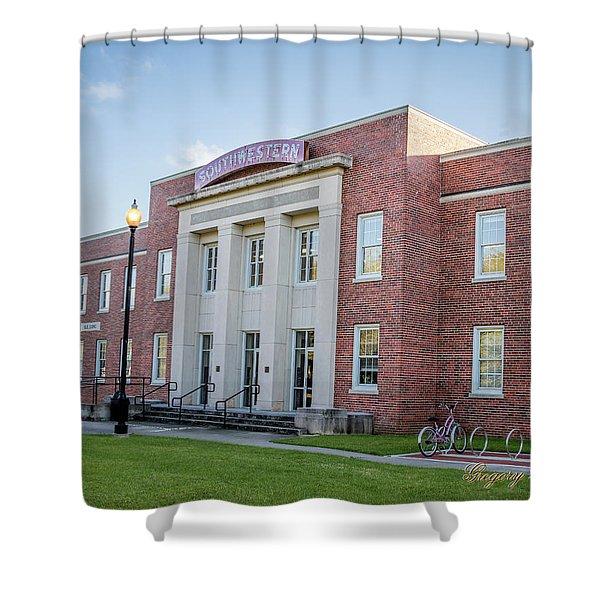 E K Long Building Shower Curtain