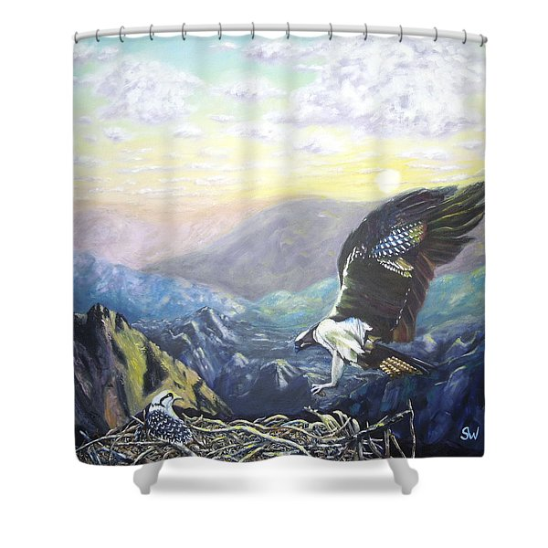 Eagle At Home Shower Curtain