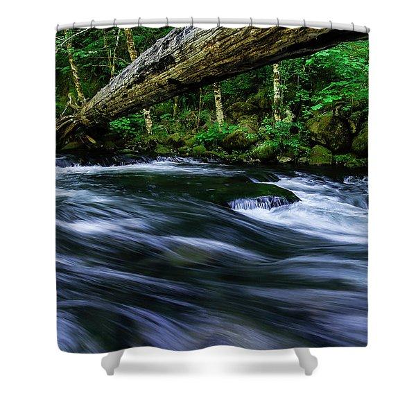 Eagle Creek Rapids Shower Curtain