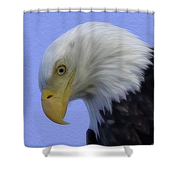 Eagle Head Paint Shower Curtain