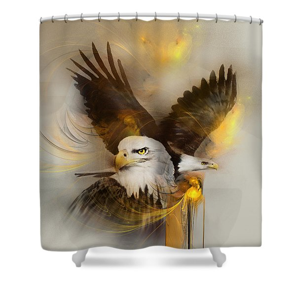 Eagle Pair Shower Curtain