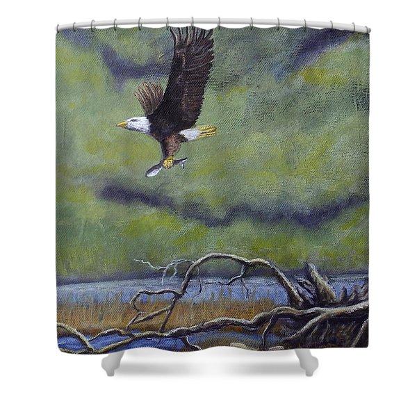 Eagle River Shower Curtain