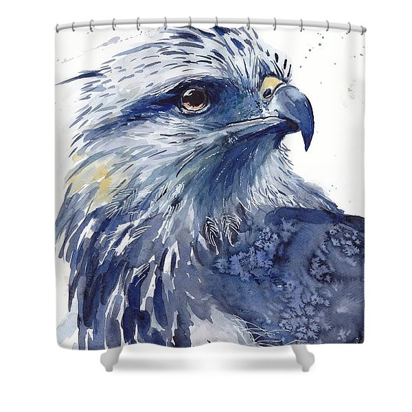 Eagle Watercolor Shower Curtain