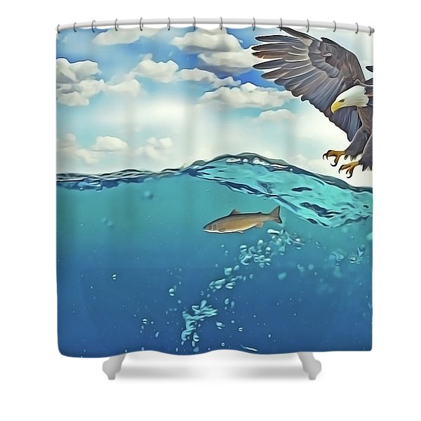 Eaglenfish Shower Curtain