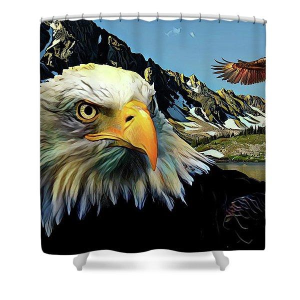 Eagles Lake Shower Curtain