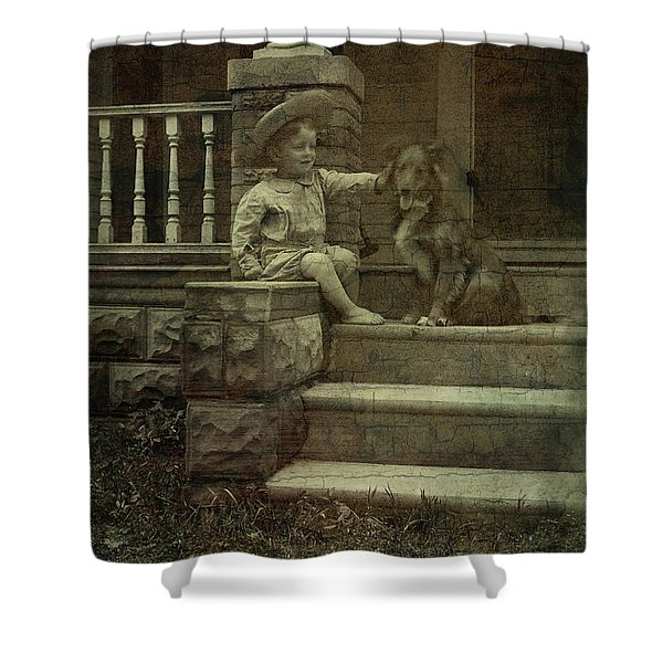 Ear Scratch And Straw Hat Shower Curtain