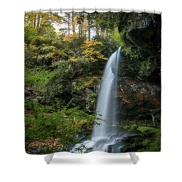 Early Autumn At Dry Falls Shower Curtain