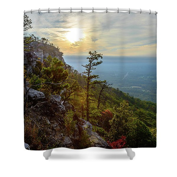 Early Autumn On Pilot Mountain Shower Curtain