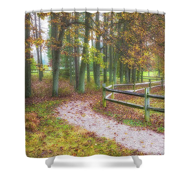 Early Autumn Stroll Shower Curtain