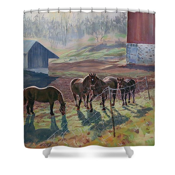 Early December At The Farm Shower Curtain