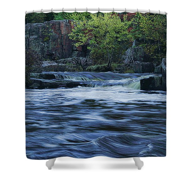 Early Fall At Eau Claire Dells Park Shower Curtain