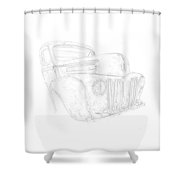 Early Ford Truck Shower Curtain