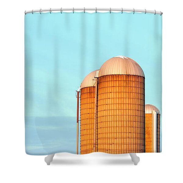 Early Monring Silos Shower Curtain