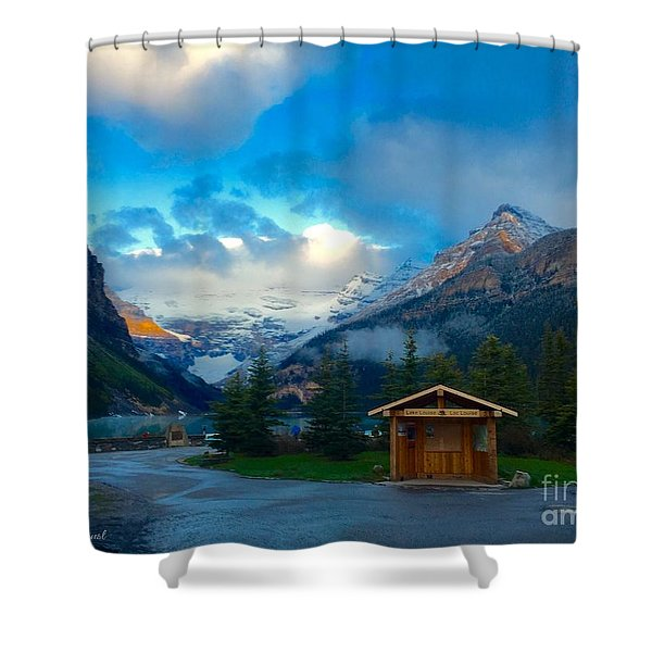Early Moody Morning Shower Curtain