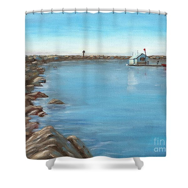 Early Morning At Dana Point Shower Curtain