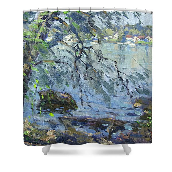 Early Morning At Fisherman's Park Shower Curtain