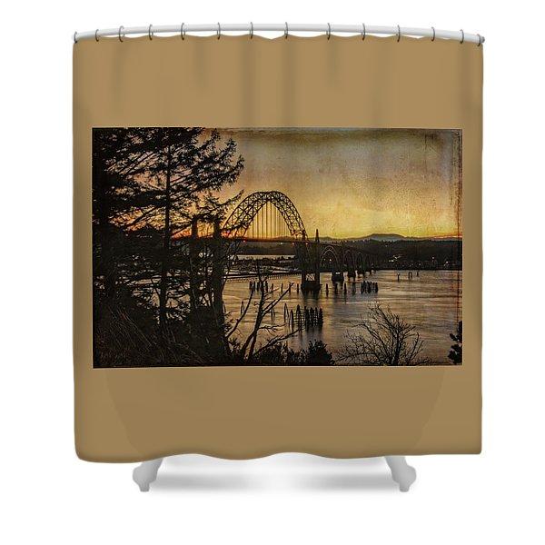 Early Morning At The Yaquina Bay Bridge  Shower Curtain
