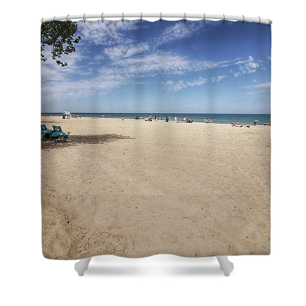Early Morning Beach Shower Curtain