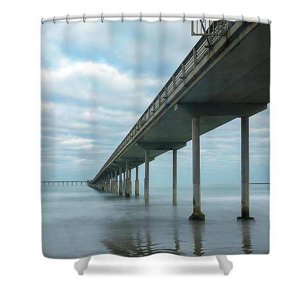 Early Morning By The Ocean Beach Pier Shower Curtain