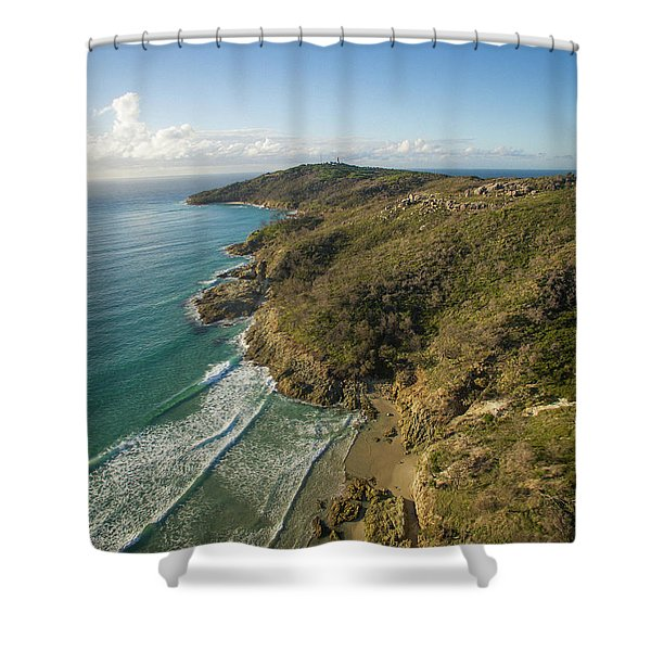Early Morning Coastal Views On Moreton Island Shower Curtain