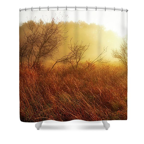 Early Morning Country Shower Curtain