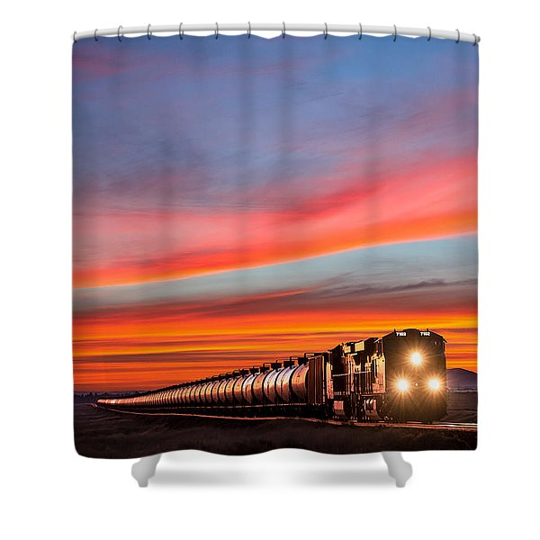 Early Morning Haul Shower Curtain