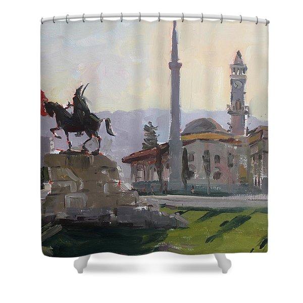Early Morning In Tirana Shower Curtain