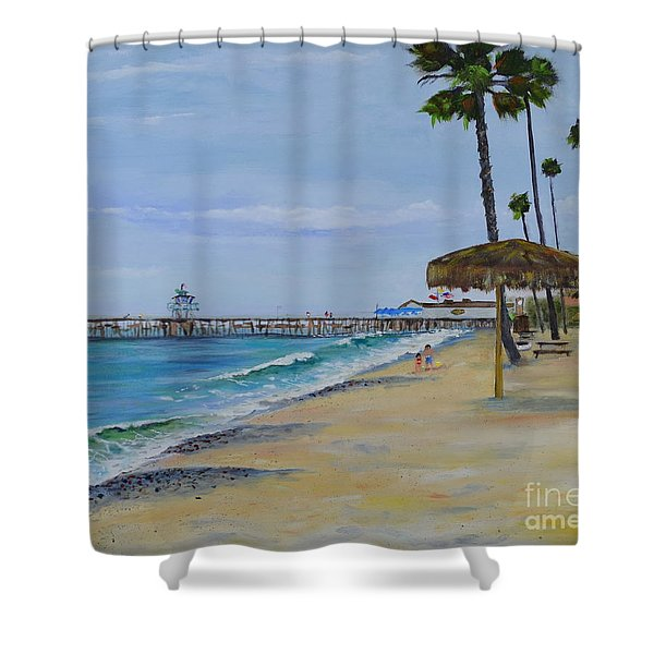 Early Morning On The Beach Shower Curtain