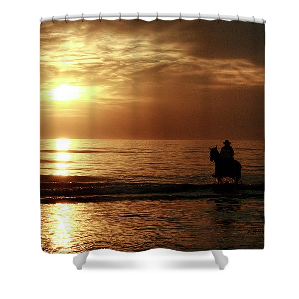 Early Morning Ride Shower Curtain