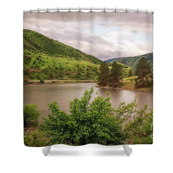 Early Morning Smoothy Waterscape Art By Kaylyn Franks  Shower Curtain