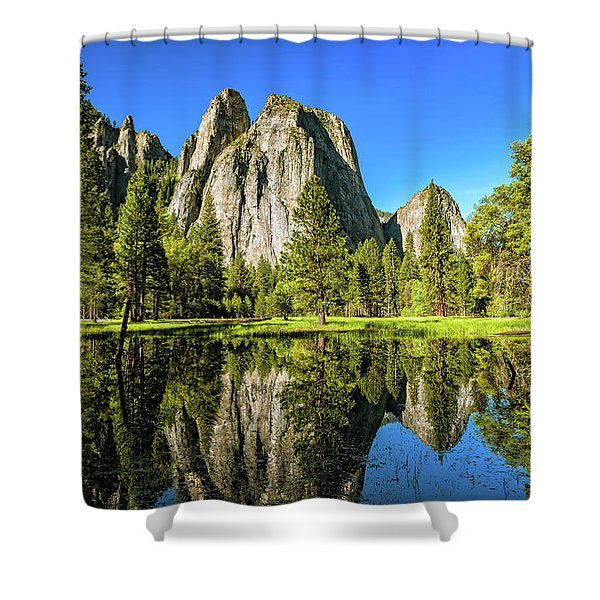 Early Morning View At Cathedral Rocks Vista Shower Curtain