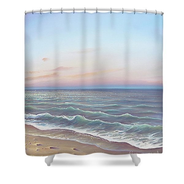 Early Morning Waves Shower Curtain