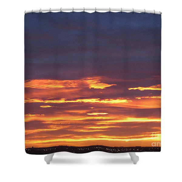 Early Prairie Sunrise Shower Curtain