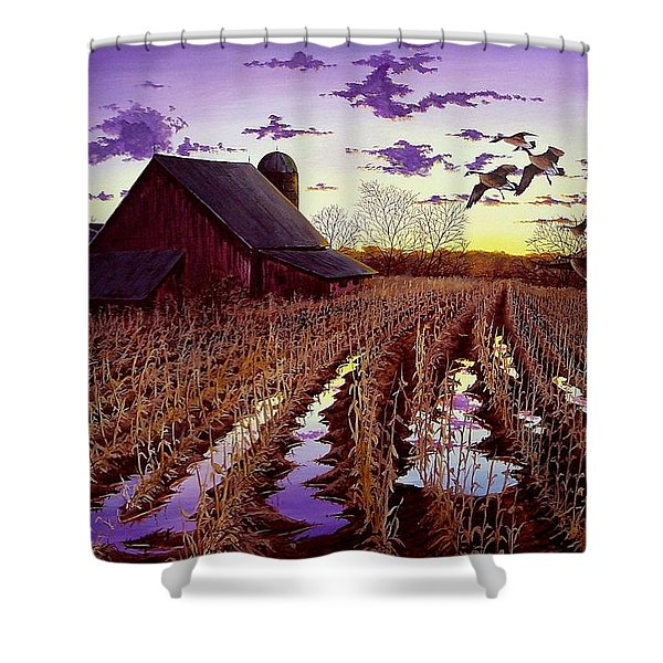Early Return Shower Curtain