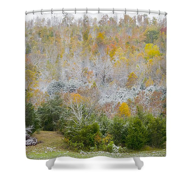 Early Snow Fall Shower Curtain