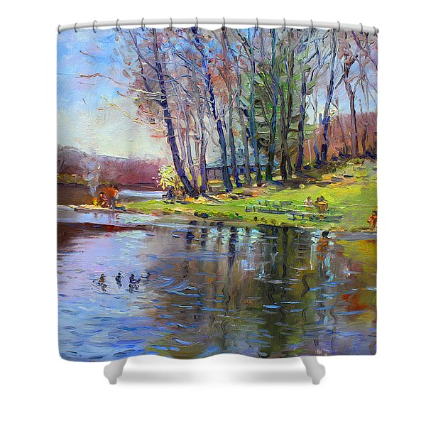 Early Spring In Bear Mountain Shower Curtain