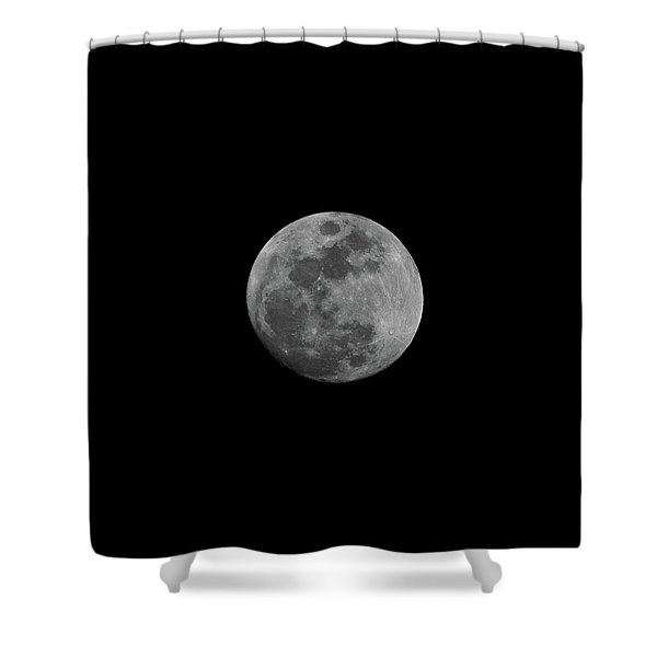 Shower Curtain featuring the photograph Early Spring Moon 2017 by Jason Coward
