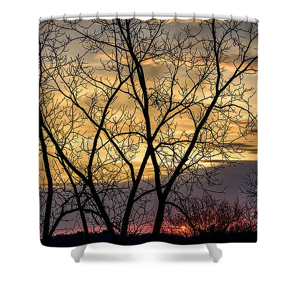 Early Spring Sunrise Shower Curtain