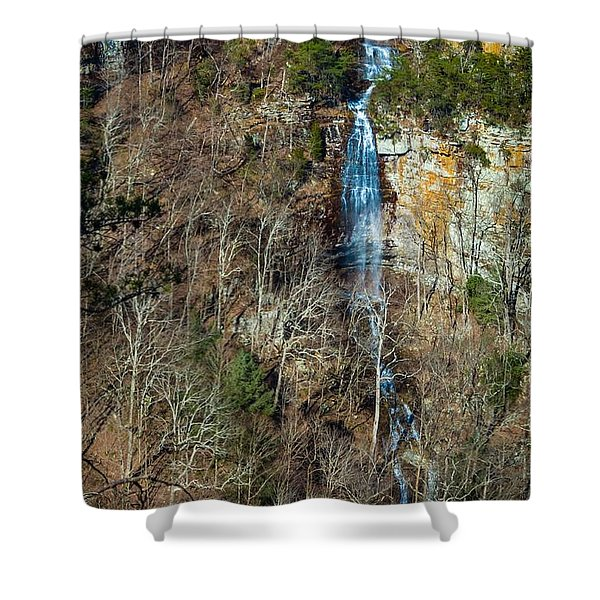 Early  Spring Waterfall  Shower Curtain