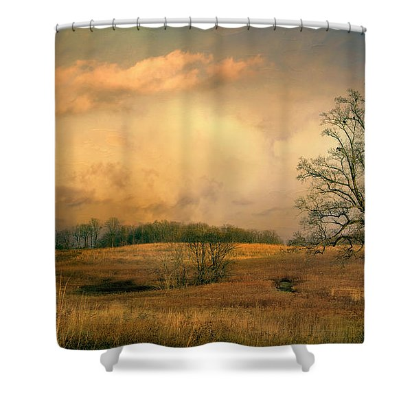 Early Spring Storm Shower Curtain
