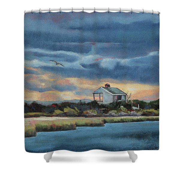 Early Winter Nocturne Shower Curtain