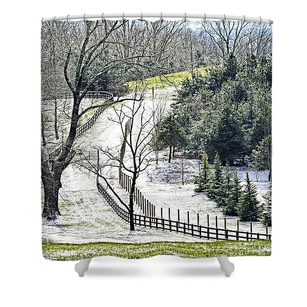 Early Winter Pasture Shower Curtain